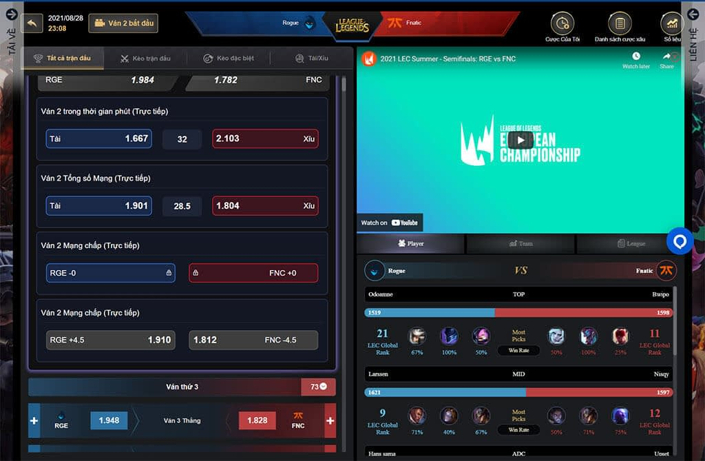 IM Esports cung cấp thông tin