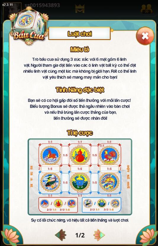 Luật chơi bầu cua tôm cá Việt